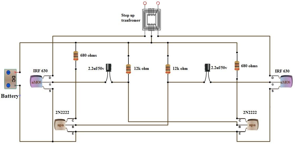 Dc To Ac Inverter Wiring Diagram Wiring Schematic Diagram