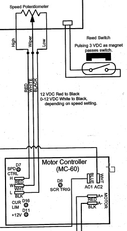 wiring a dc motor to mc  60 controller