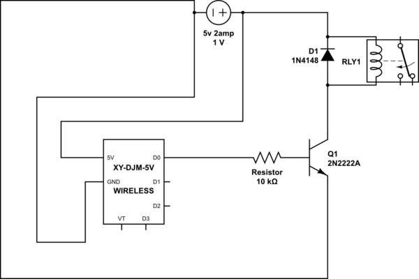 5v dc relay circuit diagram