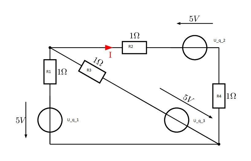 homework and exercises - Solving a rather unusual (diagonal) circuit