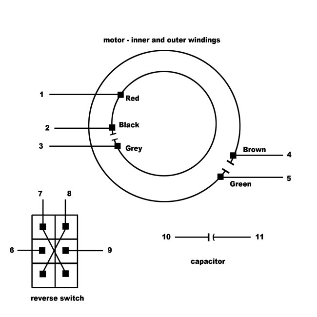 ceiling fan motor wiring diagram