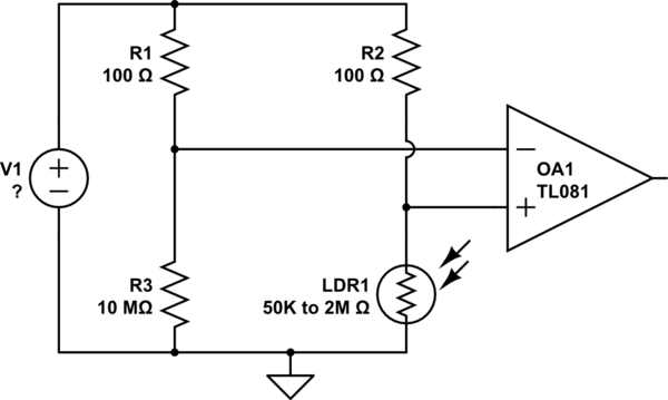 detecting an open circuit by sensing current flow using a shunt and