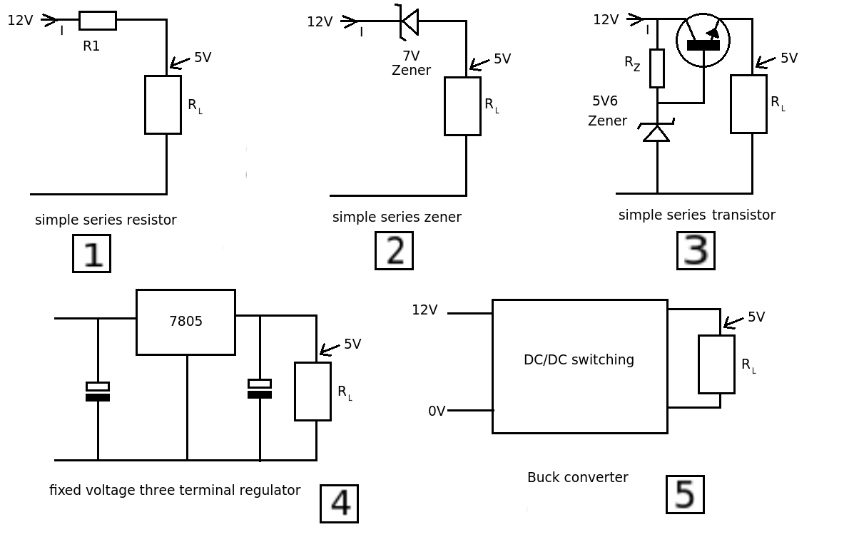 reducing voltage with resistors