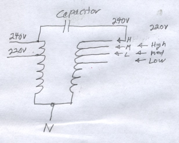 Determining how to make 7-wire AC motor run without wiring diagram