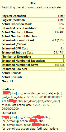 sql server - Why does adding a computed column prevent predicate