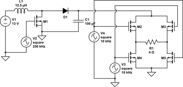 circuitlab boost converter