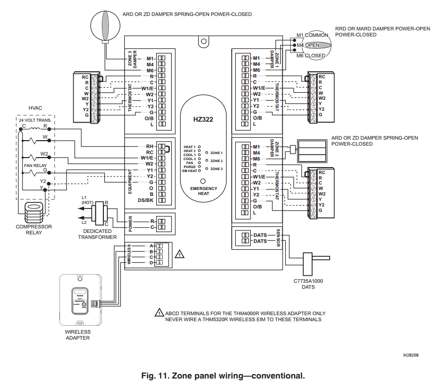 honeywell zone control wiring guide