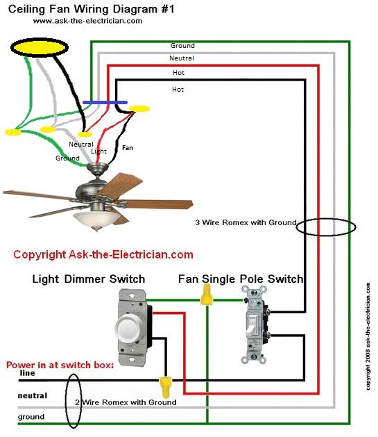 hunter ceiling fan switch wiring diagram