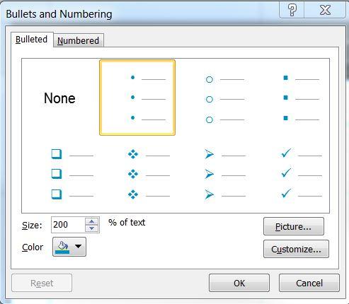 microsoft office - Powerpoint bullet list master slide text
