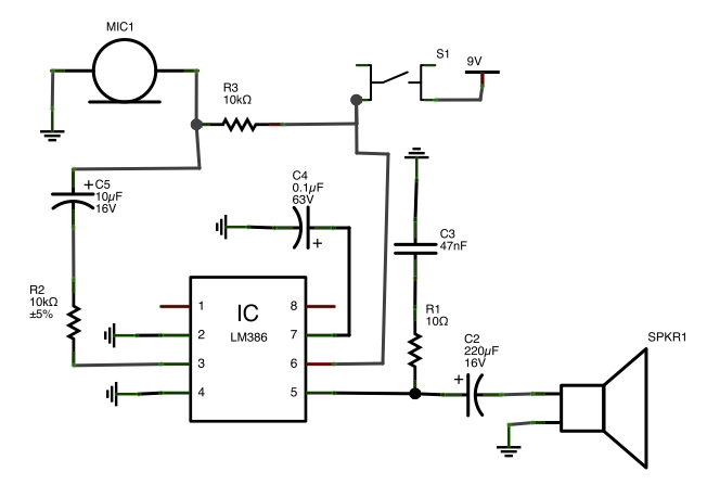 amplifier lm386 amp circuit lag