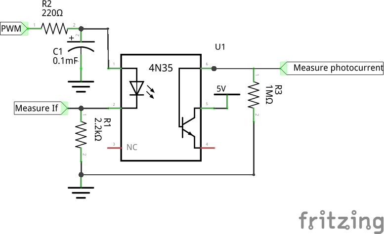 4n35 optocoupler circuit