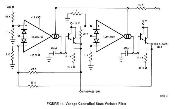 state variable filters electronic circuits and diagramelectronics