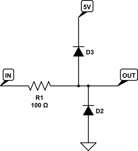 diode clipping circuit can be used to limit the voltage swing of a