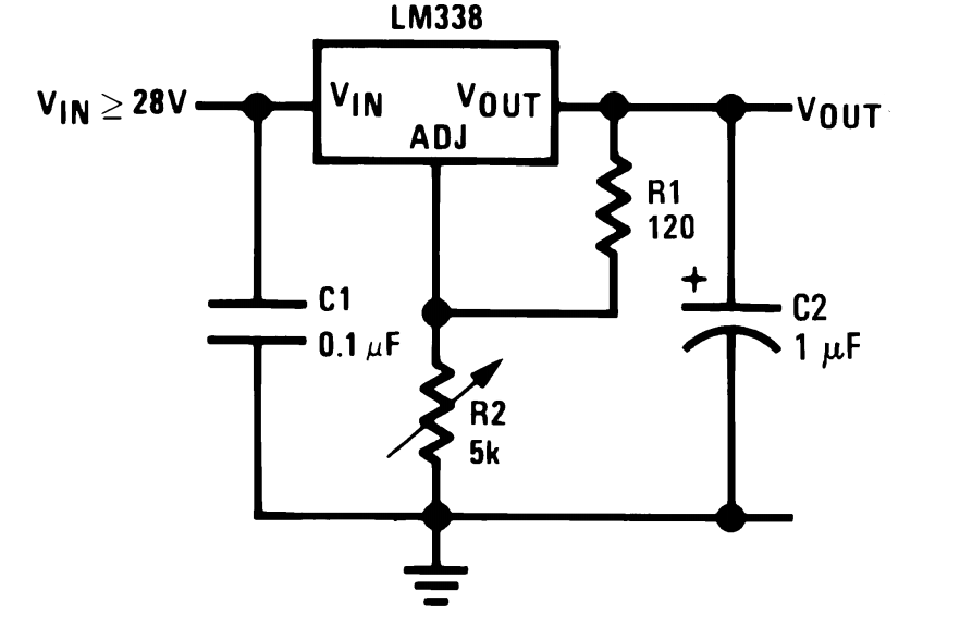 lm338t voltage regulator circuit