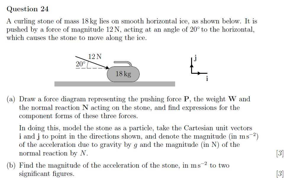 convergence acceleration - A curling stone of mass 18 kg lies on