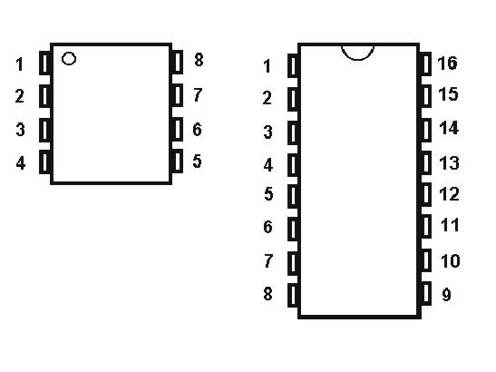 18 pins integrated circuit socket