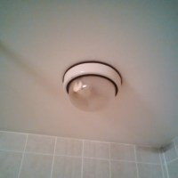 Changing bulb in shower ceiling light fixture