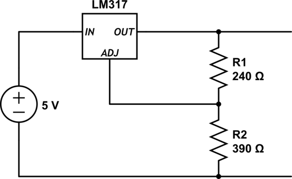 lm317 33v or 5v only with jumper