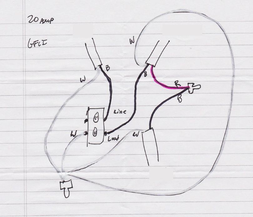 2 phase gfci diagrama de cableado