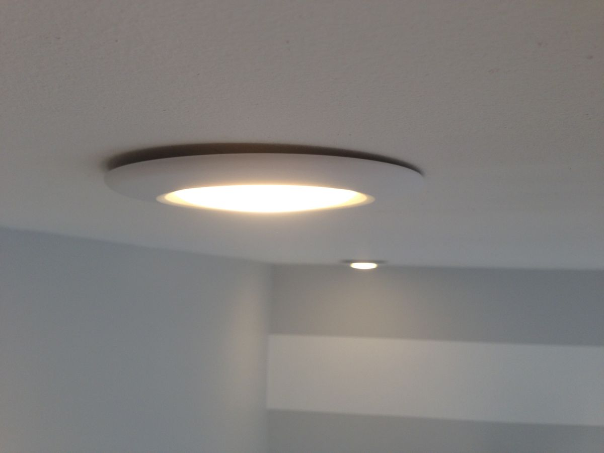 Overhead Lighting Drywall How Do I Get My Recessed Light Fixture Flush Home