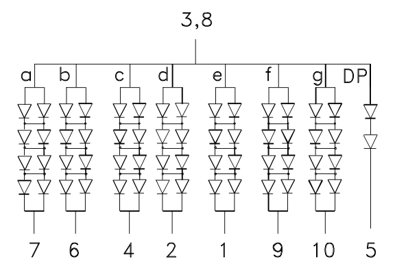 wiring large numbers of leds in seriesparallel
