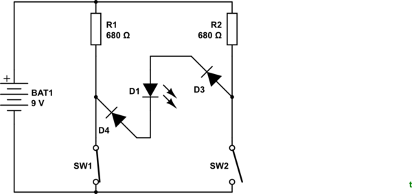circuit diagram for and gate using switches