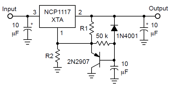 lm317 circuit capacitor question