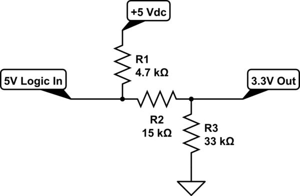 resistive voltage divider schematic