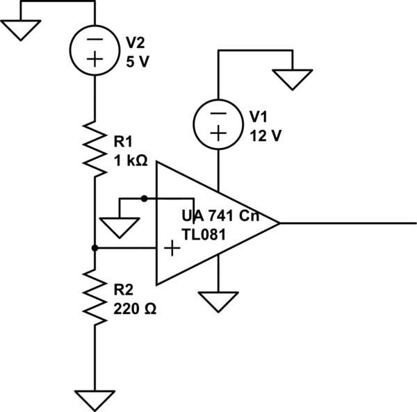 op amp question about the output voltage of an opamp ua741