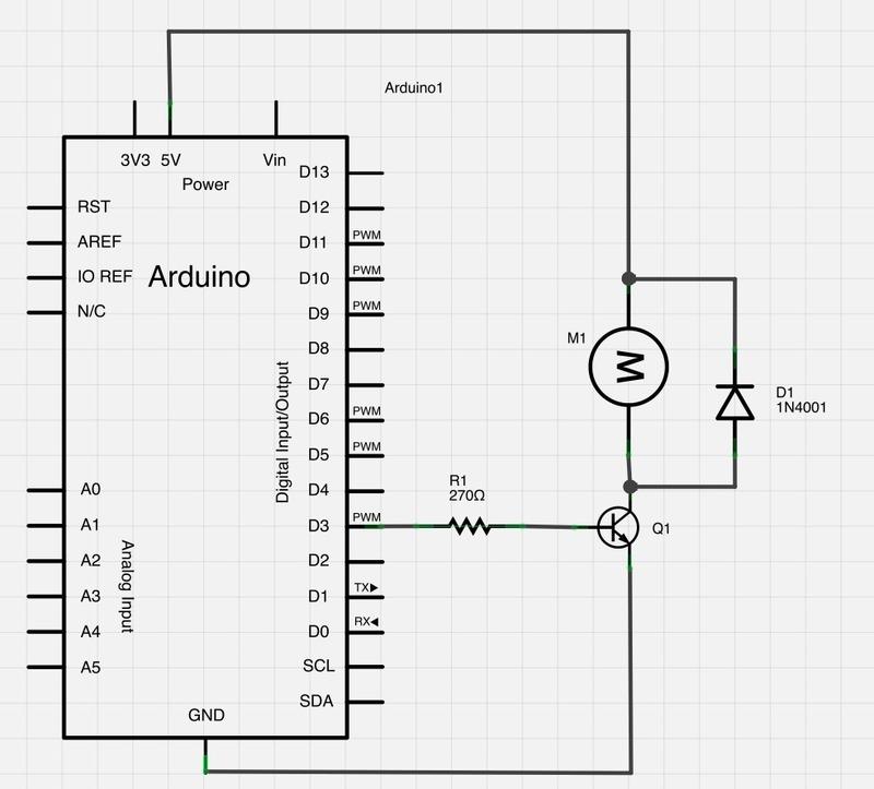 arduino dc motor control circuit diagram