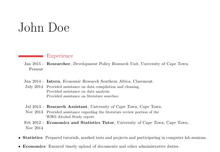 resume bullet points for tutor