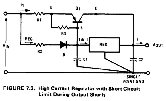 regulator booster by transistor