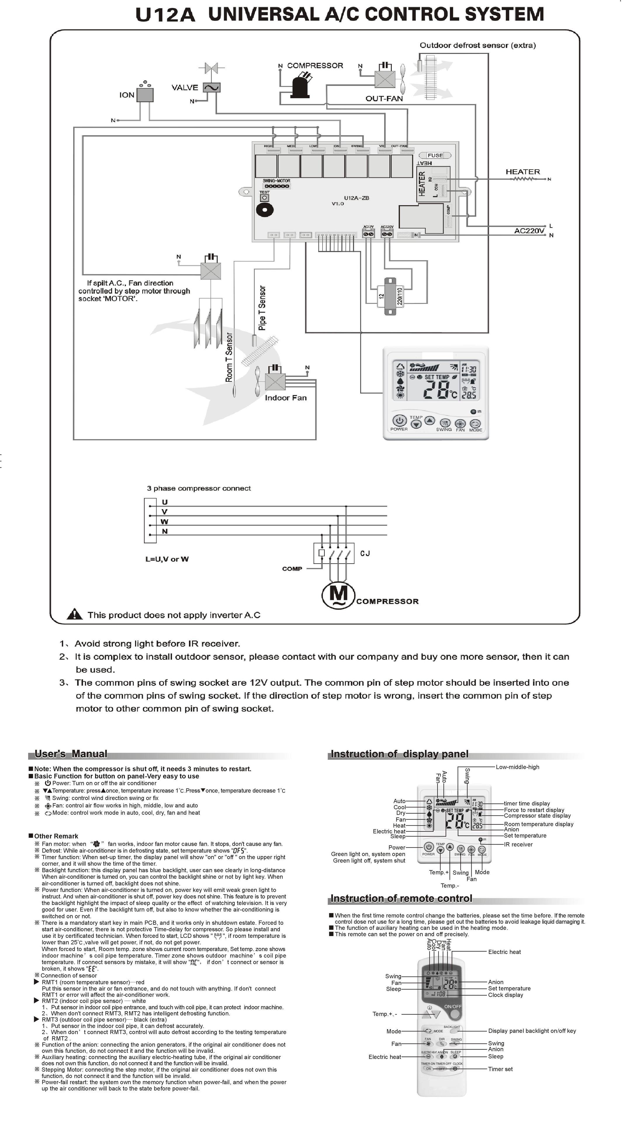 whalen hvac thermostat wiring