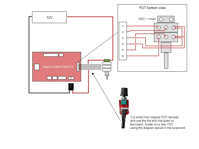 Potentiometer Wiring Audio circuit diagram template