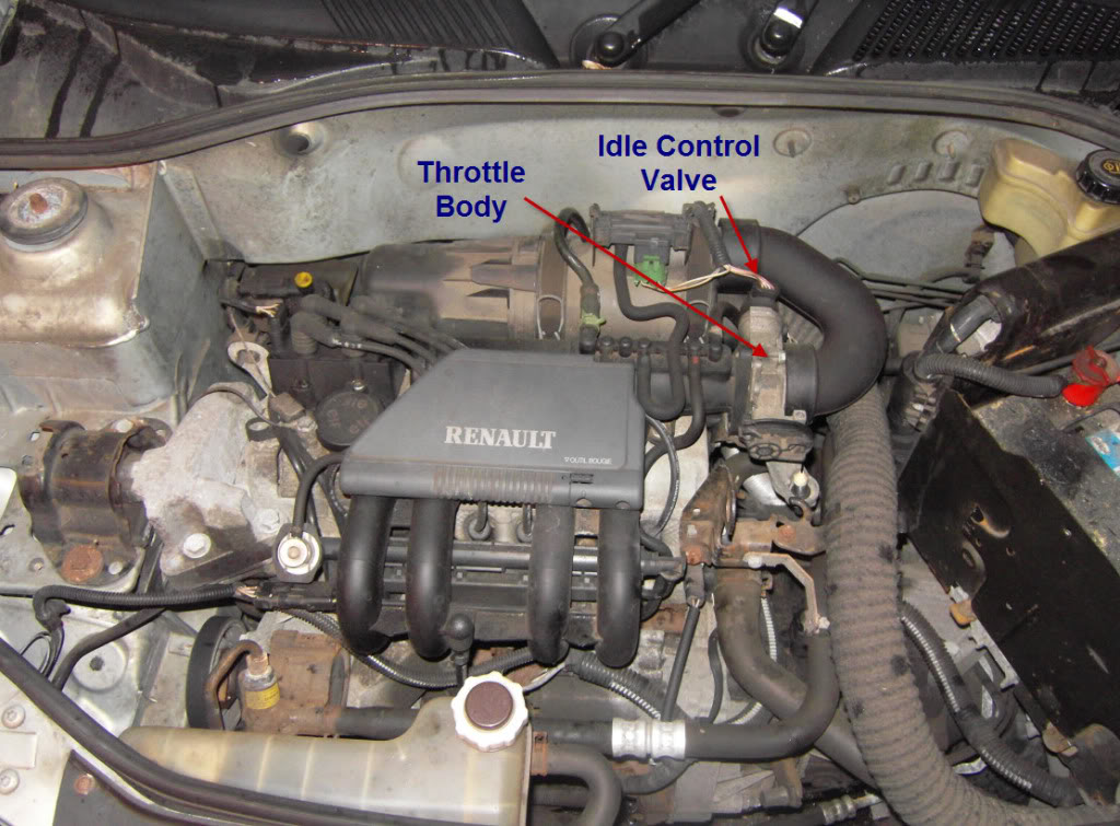 air intake - How to access the Idle Air Control Valve, Renault Clio
