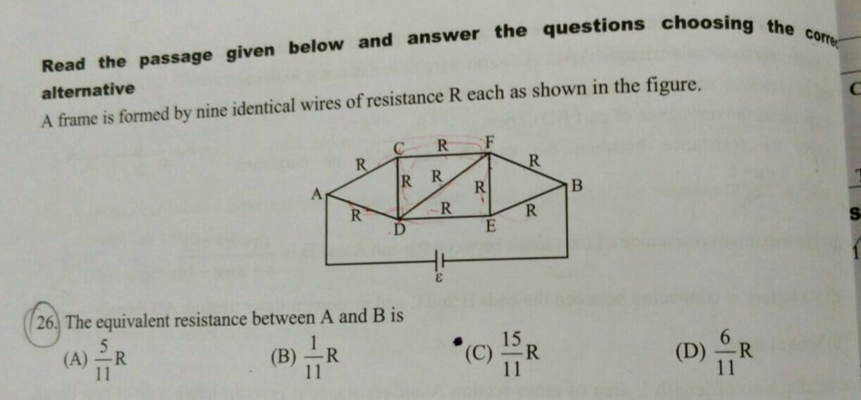 homework and exercises - What is the equivalent resistance between