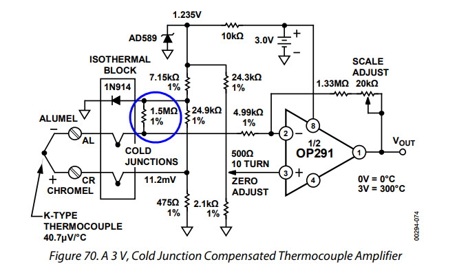 thermocouple amplifier using ca3193