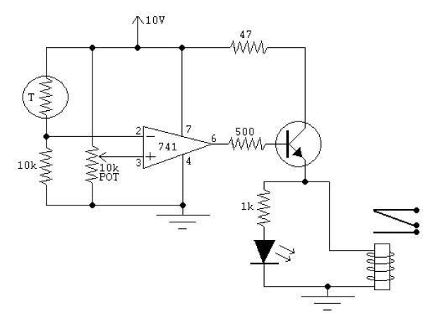 thermistor and comparator circuit