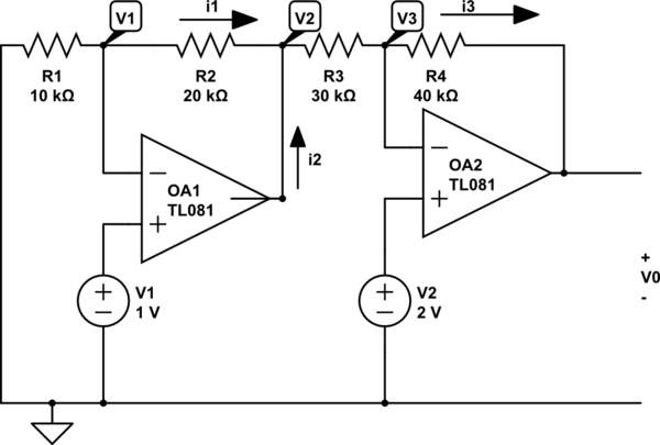 solving op amp circuits video clip