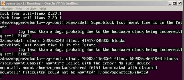 Linux Virtualbox Mounting Shared Folder Fails During