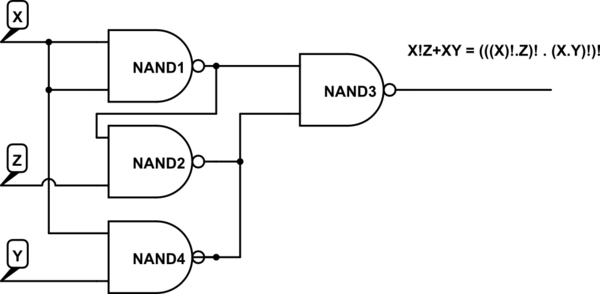 circuit using nand gates only