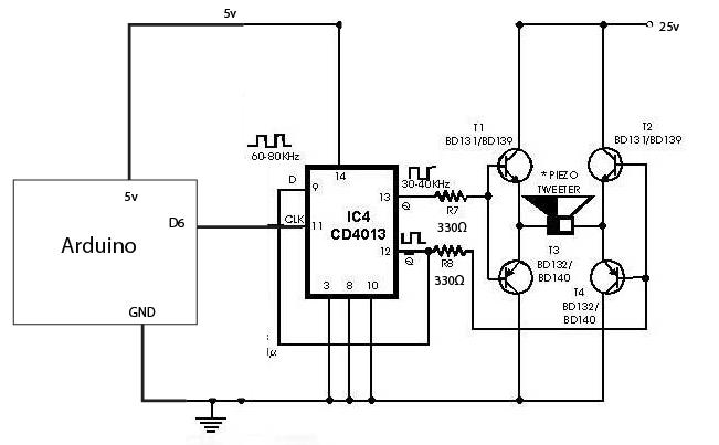 ultrasonic transducer circuit