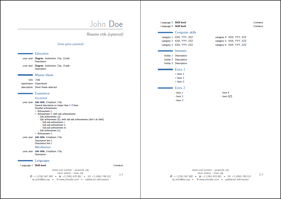 modern cv latex add natioanality