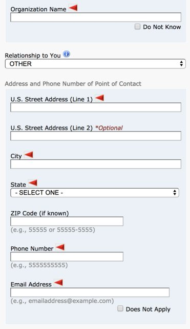 usa - What do I do if I don\u0027t have contact information of a US