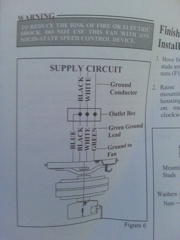 electrical - How do I wire this ceiling fan? - Home Improvement