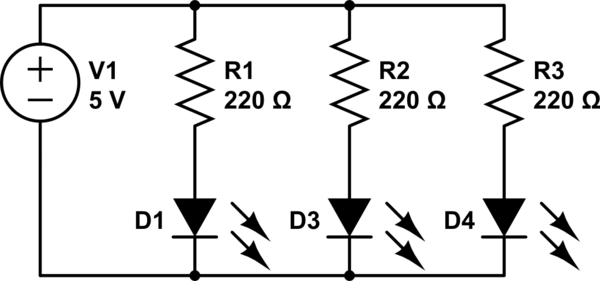 voltage drop in a parallel circuit