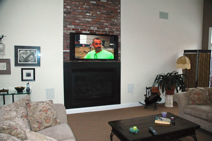 How should I run wiring for my above-fireplace mounted TV? - Home