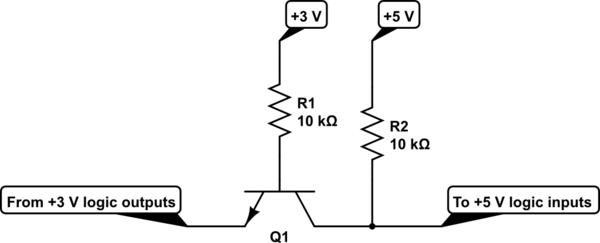 3v level shift circuit
