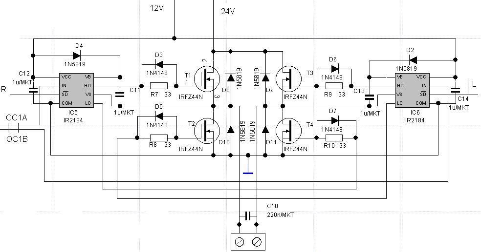 mosfet - Understanding purpose of components in a half bridge driver