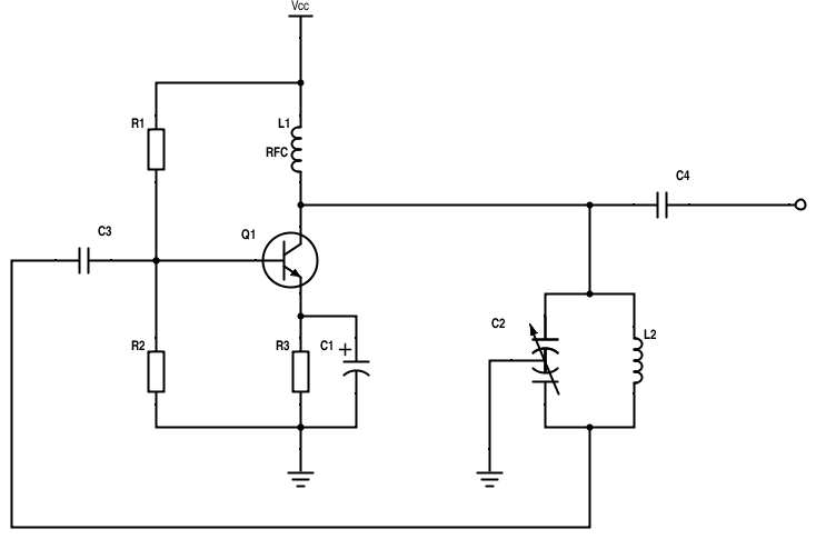 rf cafe quiz hartley oscillator schematic